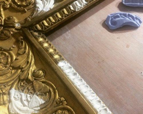 restauration de cadre doré